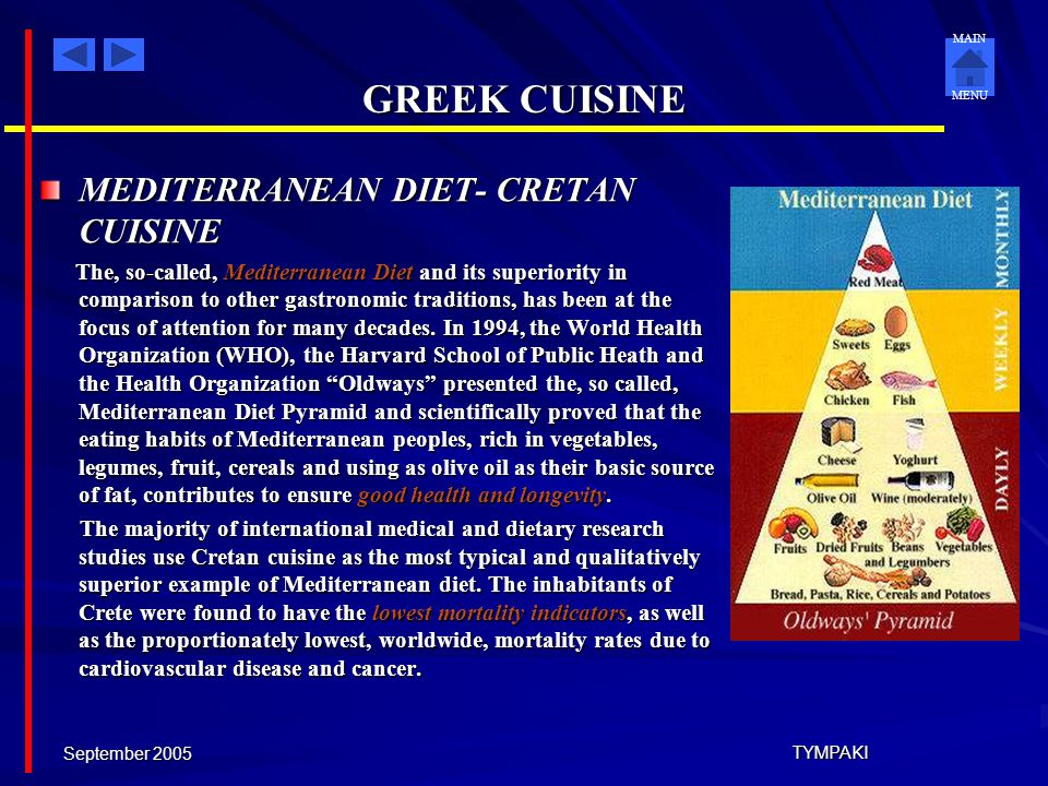 GREEK CUISINE MEDITERRANEAN DIET- CRETAN CUISINE