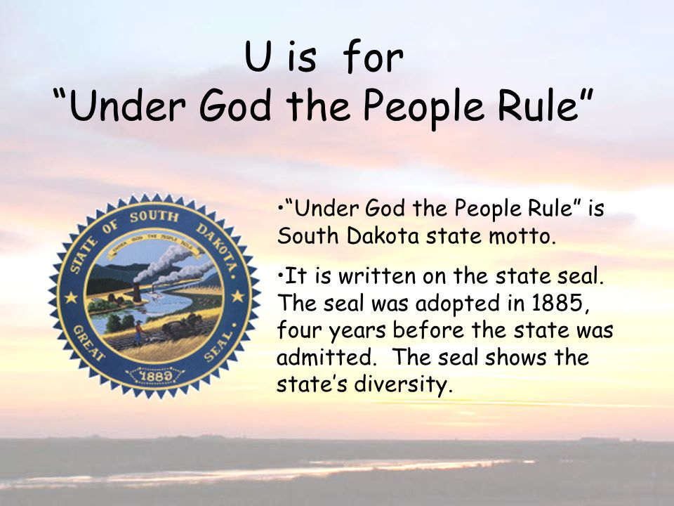 U is for Under God the People Rule