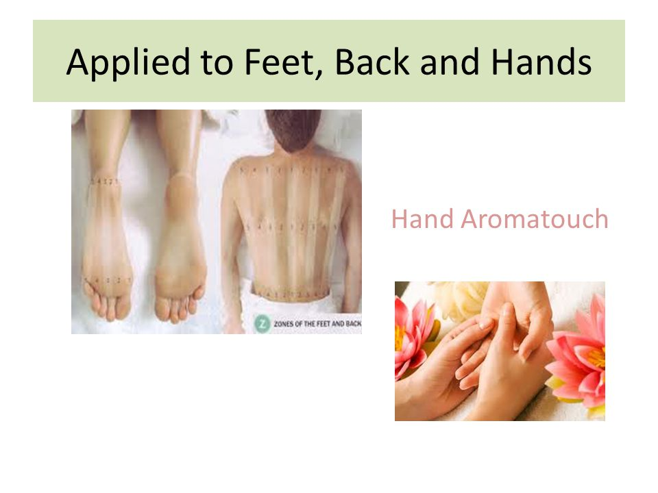 Applied to Feet, Back and Hands