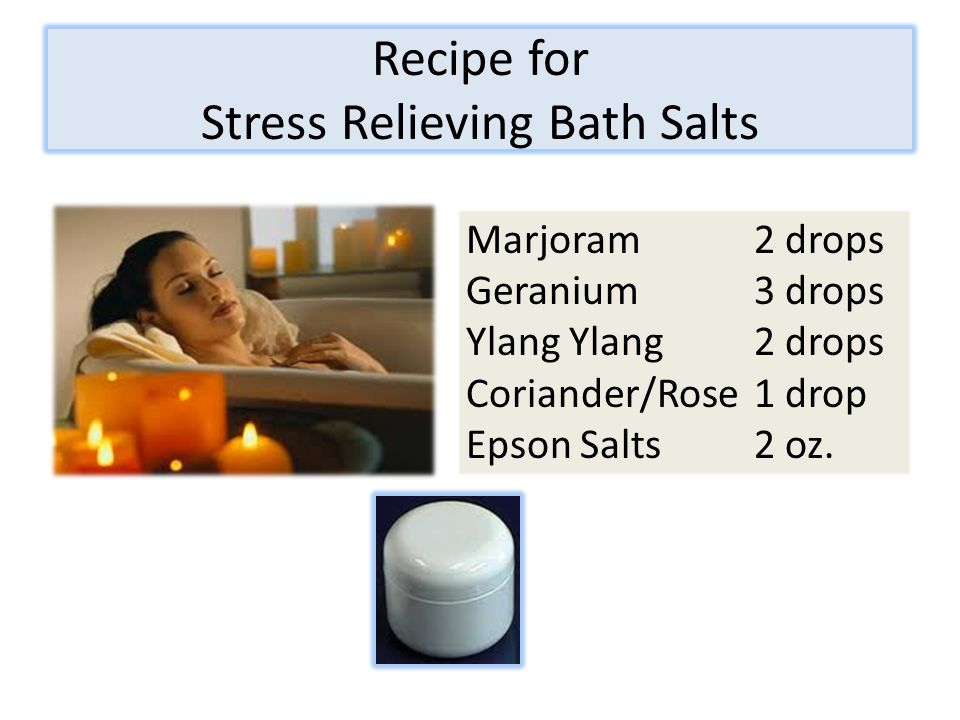 Recipe for Stress Relieving Bath Salts