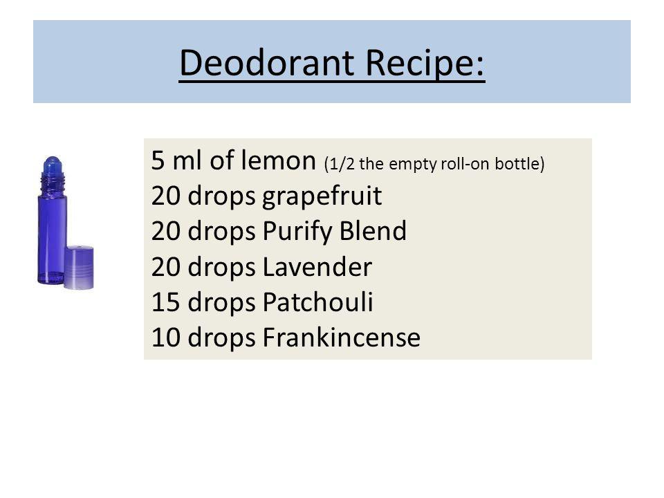 Deodorant Recipe: