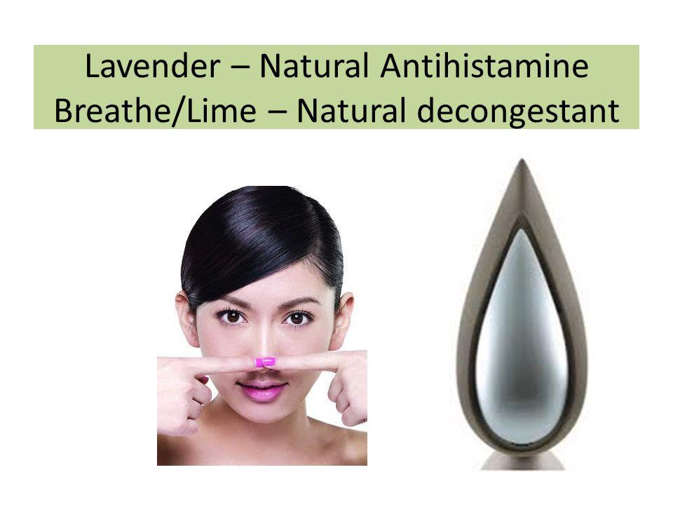 Lavender – Natural Antihistamine Breathe/Lime – Natural decongestant