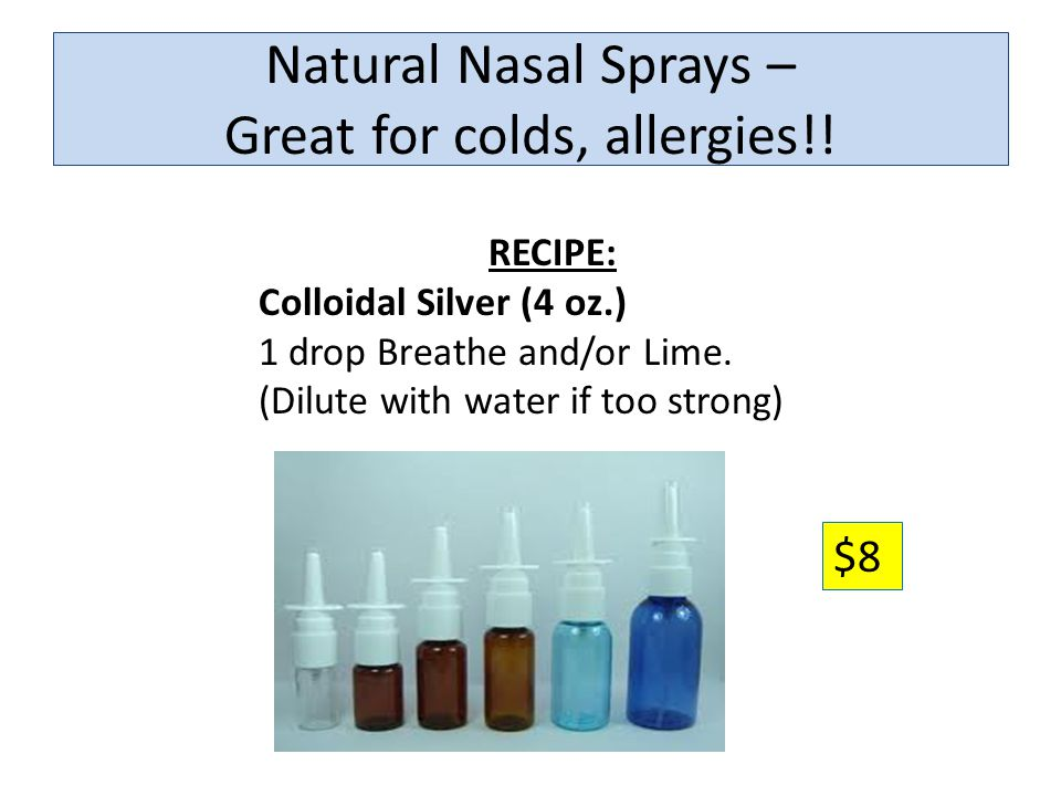 Natural Nasal Sprays – Great for colds, allergies!!