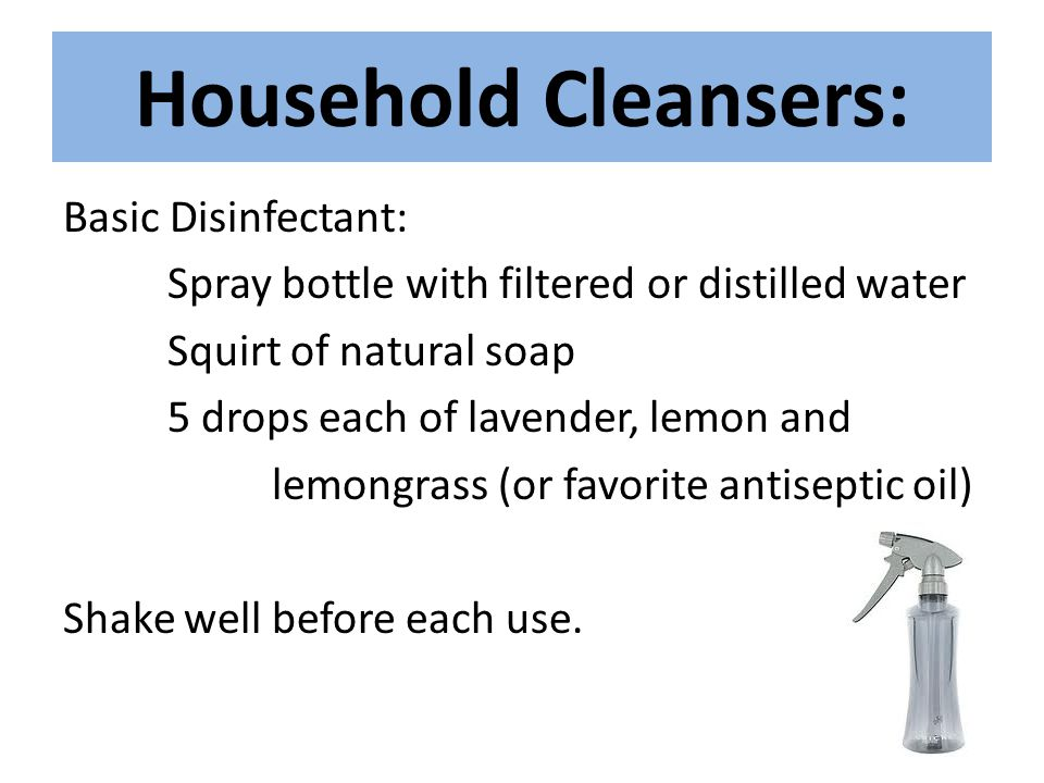 Household Cleansers: