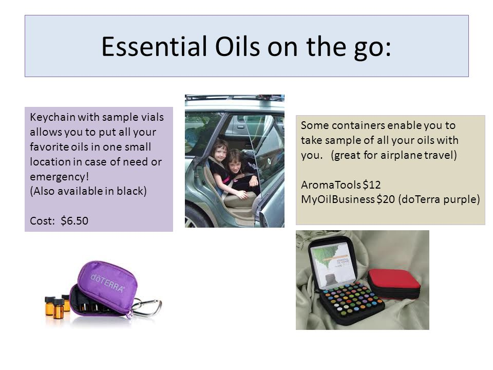 Essential Oils on the go: