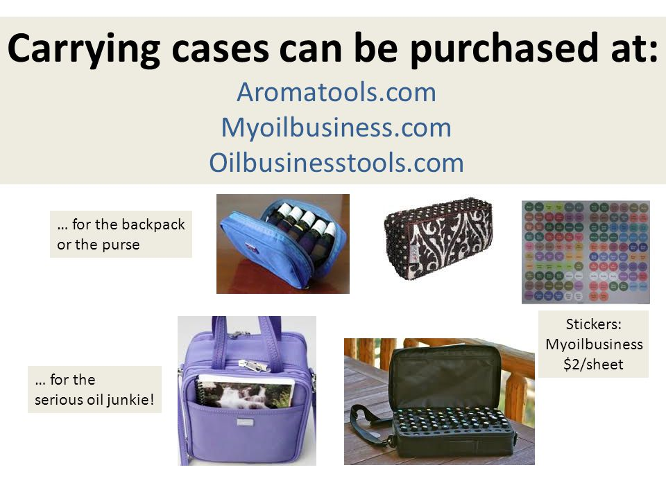 Carrying cases can be purchased at: