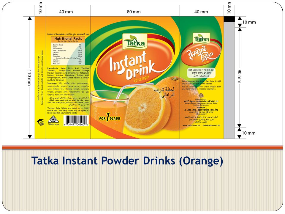Tatka Instant Powder Drinks (Orange)