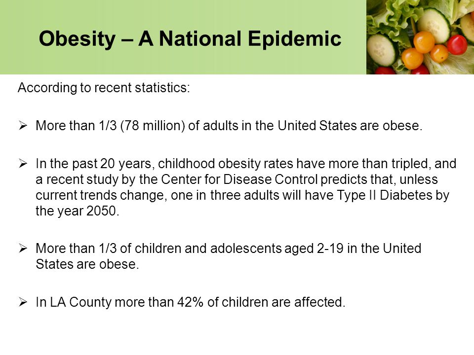 Obesity – A National Epidemic
