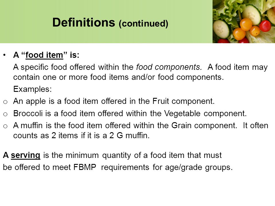 Definitions (continued)