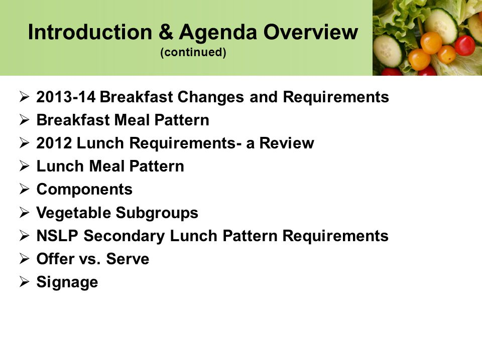 changes to breakfast and lunch programs Recent changes to the breakfast and lunch programs to improve nutrition and of nutrition and healthy breakfast and lunch program in the.