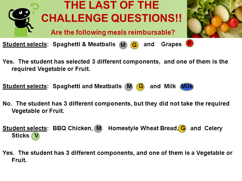 THE LAST OF THE CHALLENGE QUESTIONS