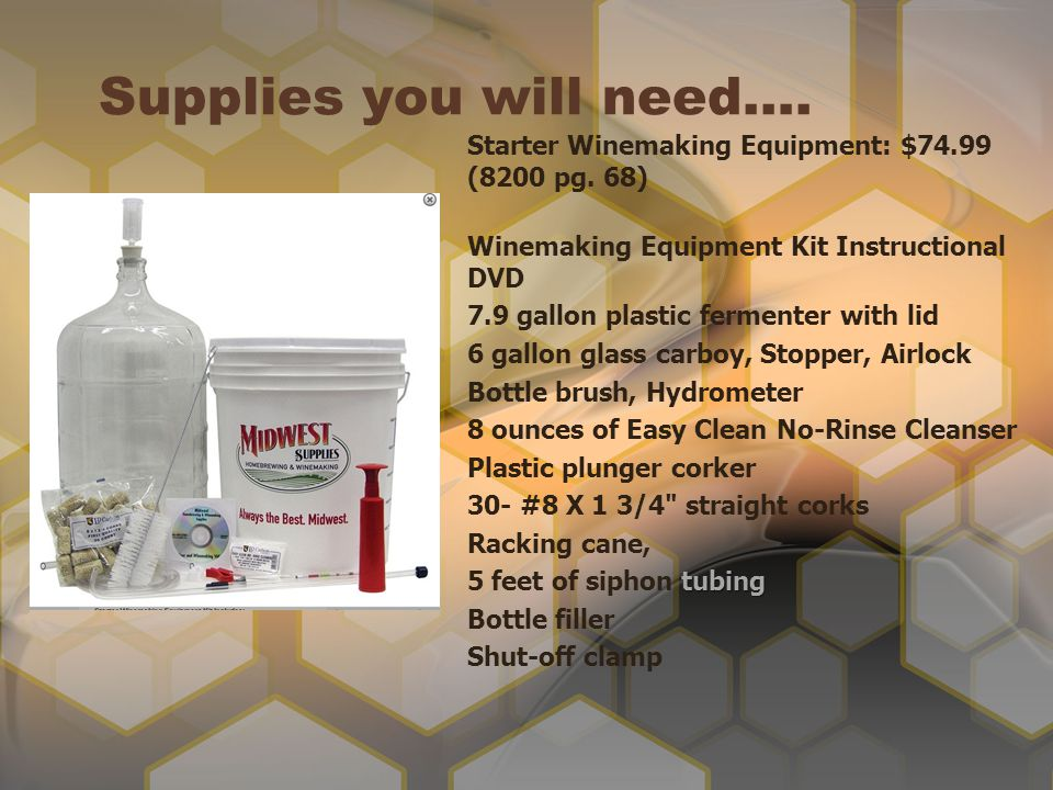 Supplies you will need….