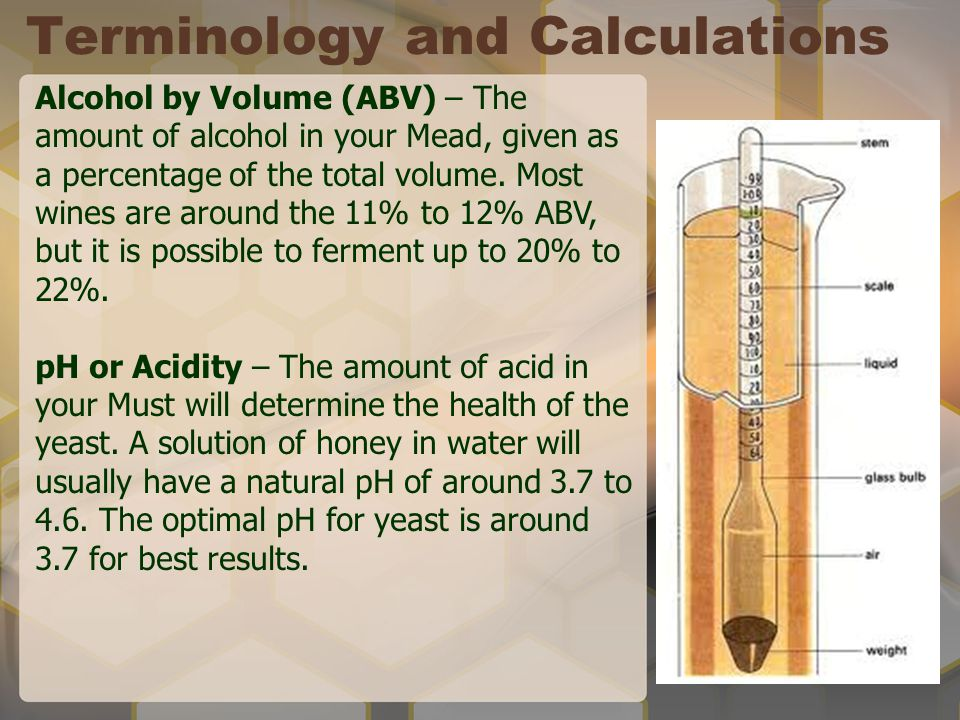 Terminology and Calculations