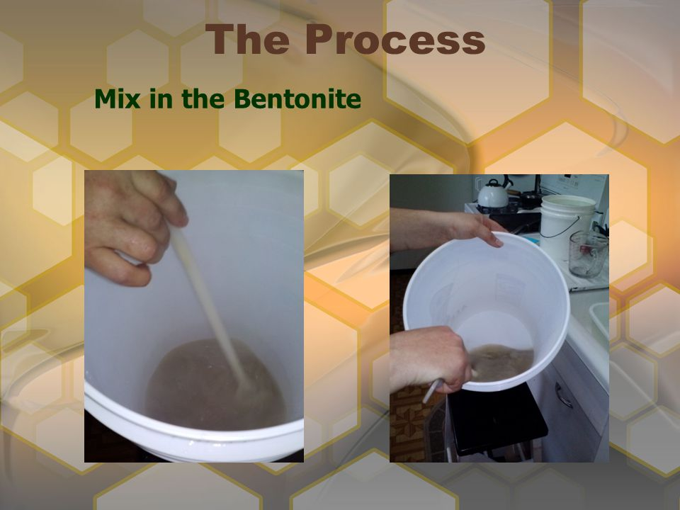 The Process Mix in the Bentonite