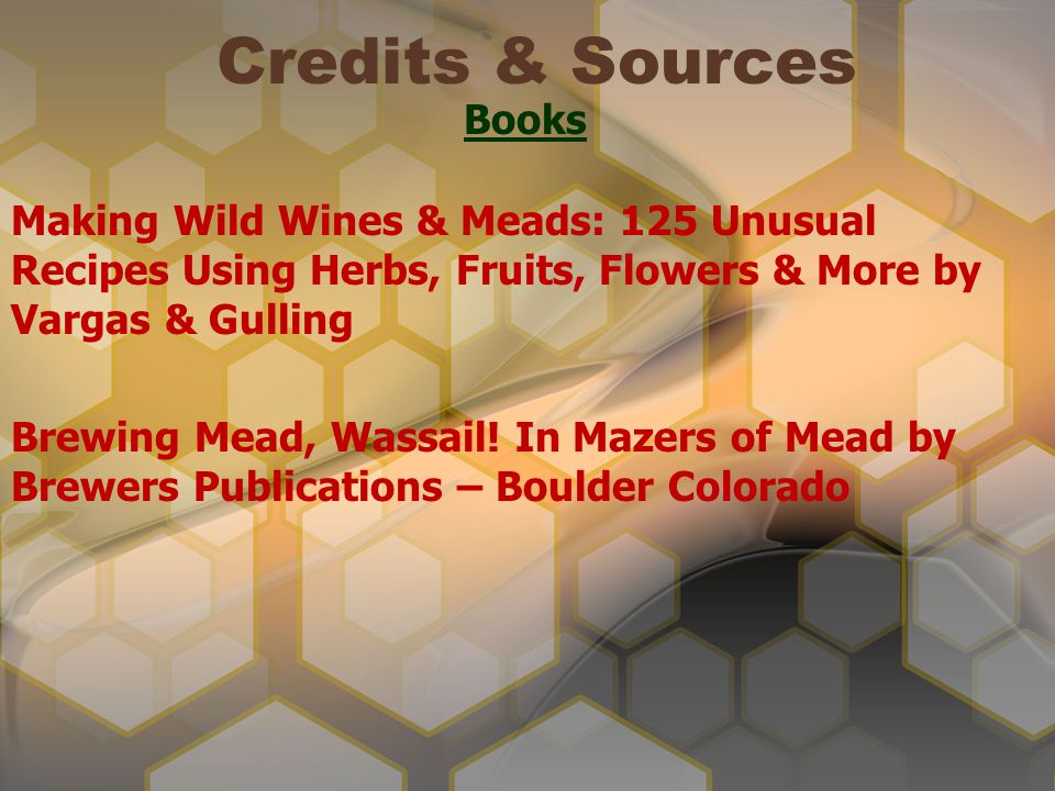 Credits & Sources Books