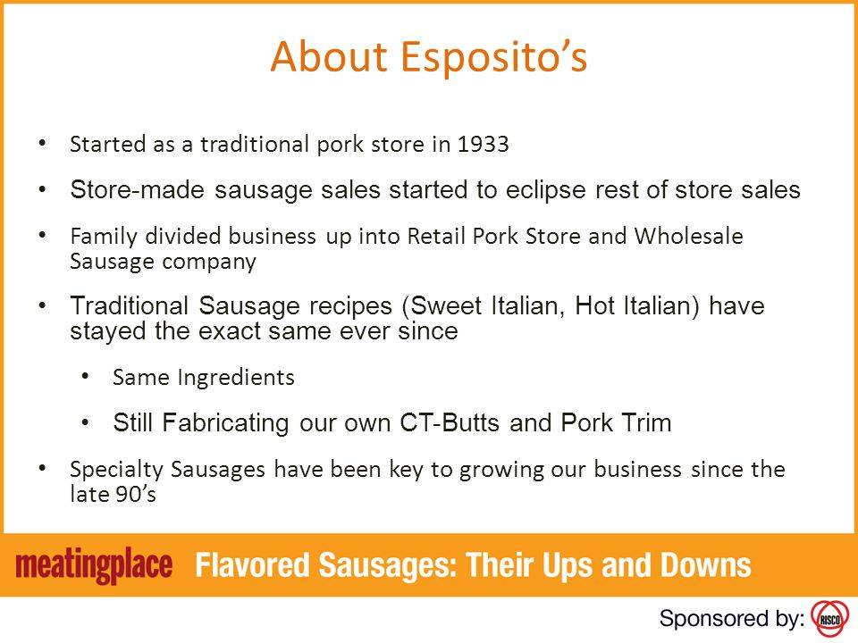 About Esposito's Started as a traditional pork store in 1933
