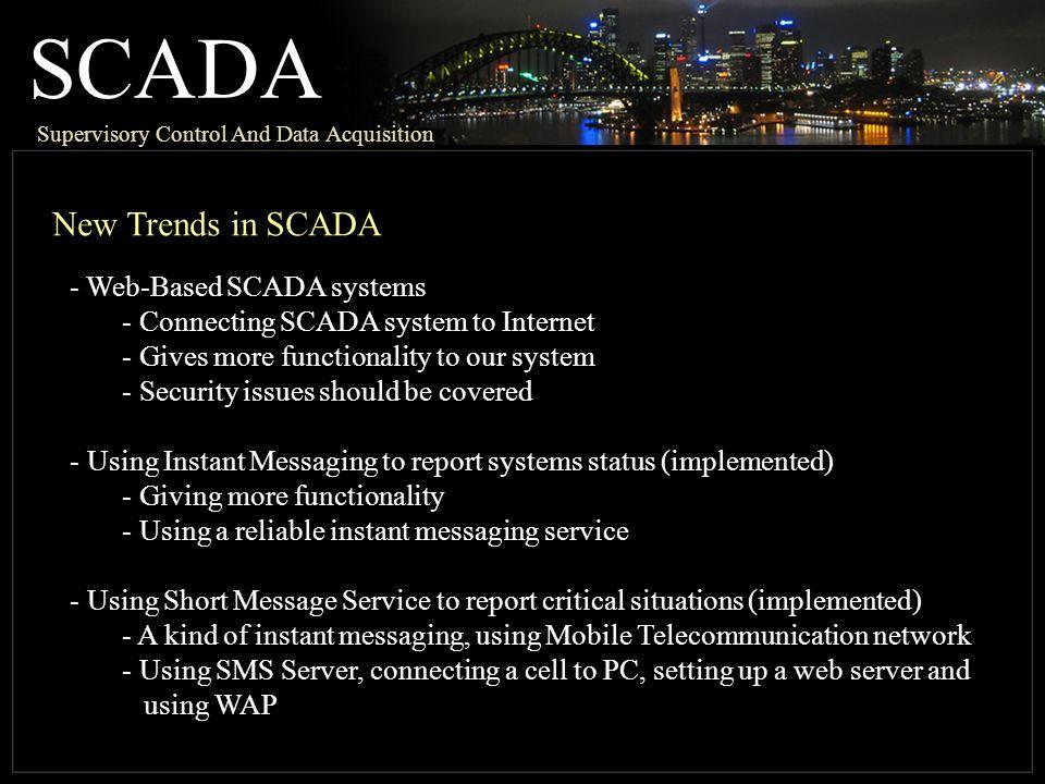 SCADA New Trends in SCADA Web-Based SCADA systems