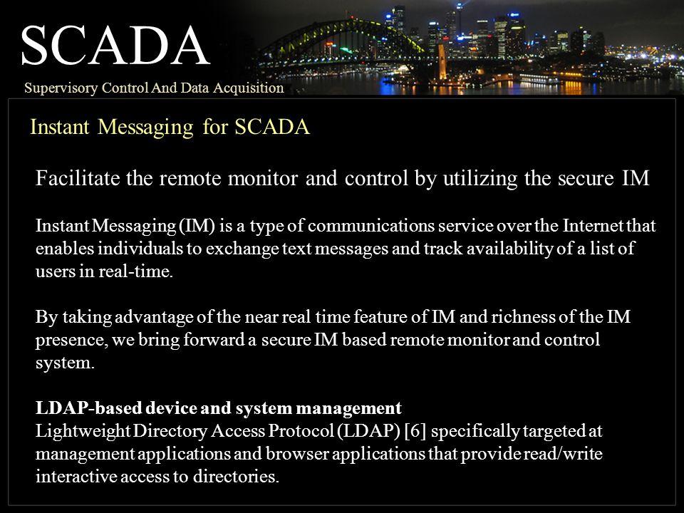 SCADA Instant Messaging for SCADA