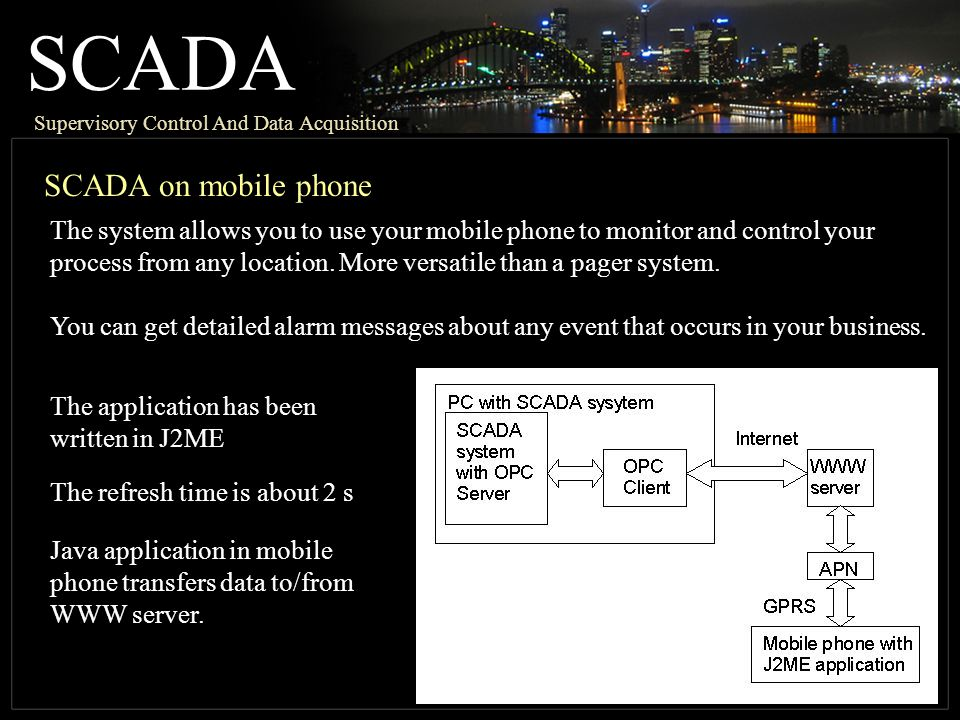 SCADA SCADA on mobile phone