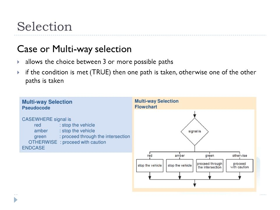 Selection Case or Multi-way selection