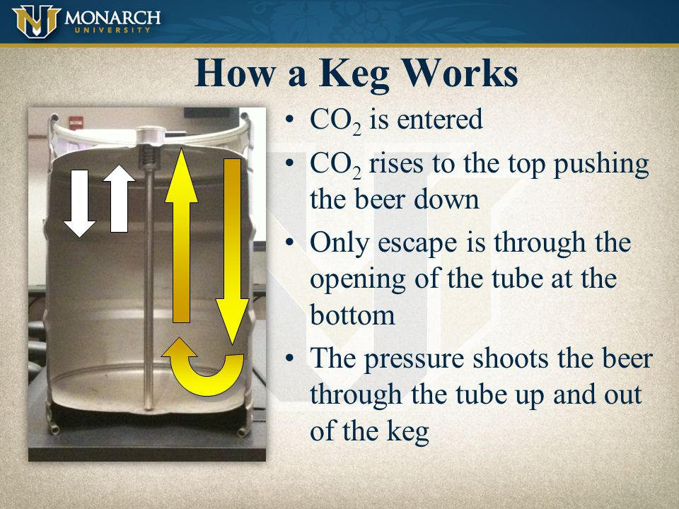 How a Keg Works CO2 is entered