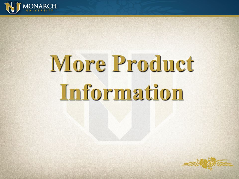 More Product Information