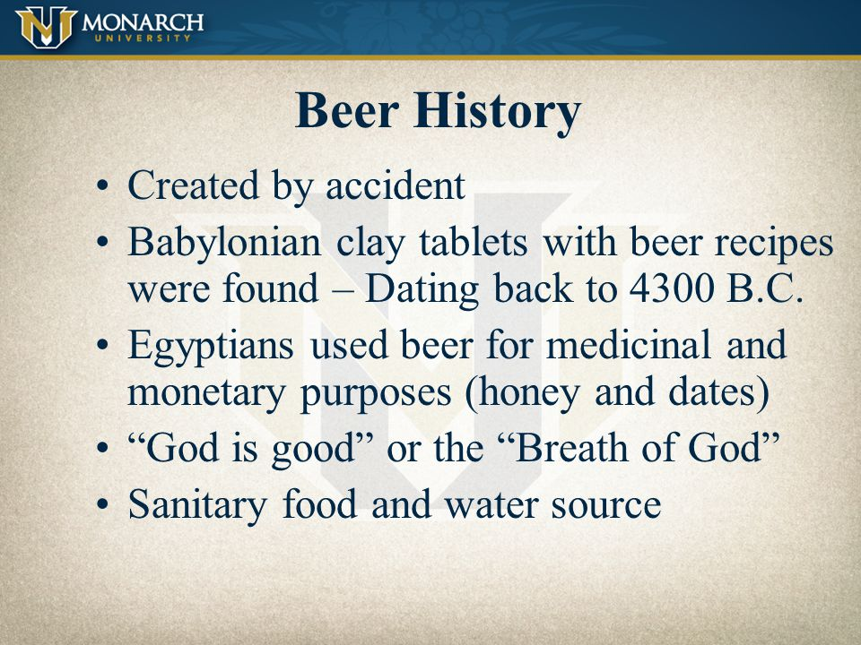 Beer History Created by accident