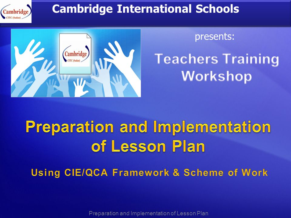 relationship between scheme of work and lesson plan