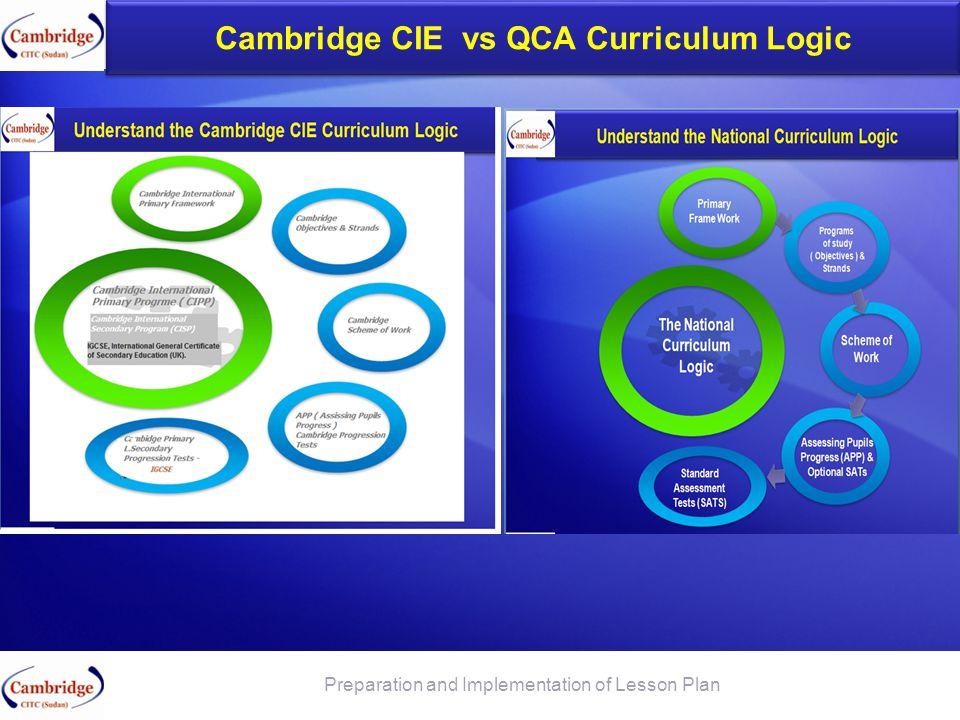 Cambridge CIE vs QCA Curriculum Logic