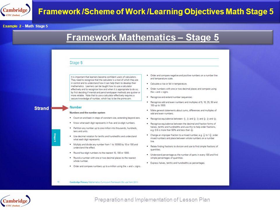 Framework Mathematics – Stage 5