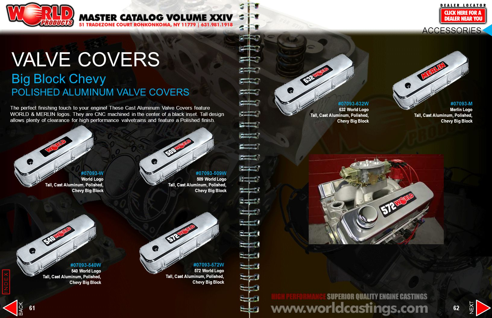 VALVE COVERS Big Block Chevy POLISHED ALUMINUM VALVE COVERS