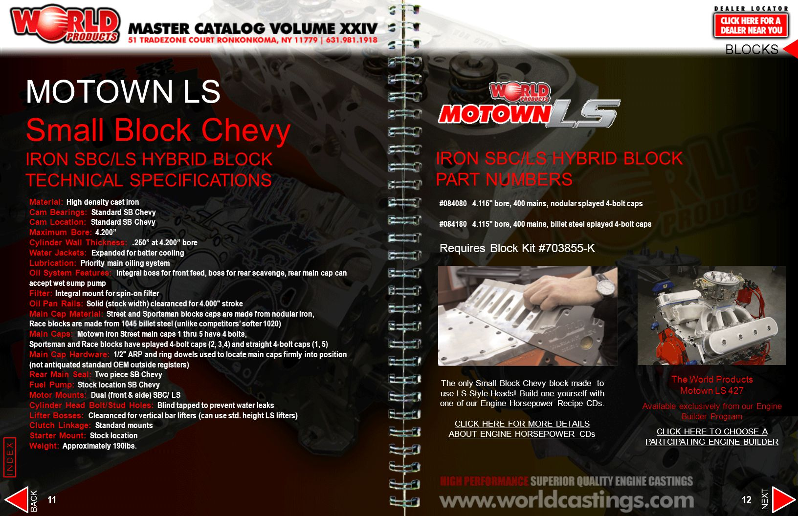 Small Block Chevy IRON SBC/LS HYBRID BLOCK TECHNICAL SPECIFICATIONS