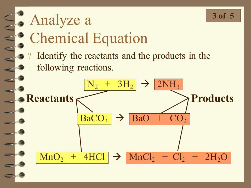 Analyze a Chemical Equation