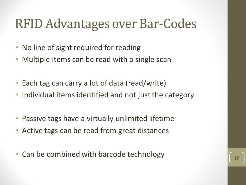 RFID Advantages over Bar-Codes