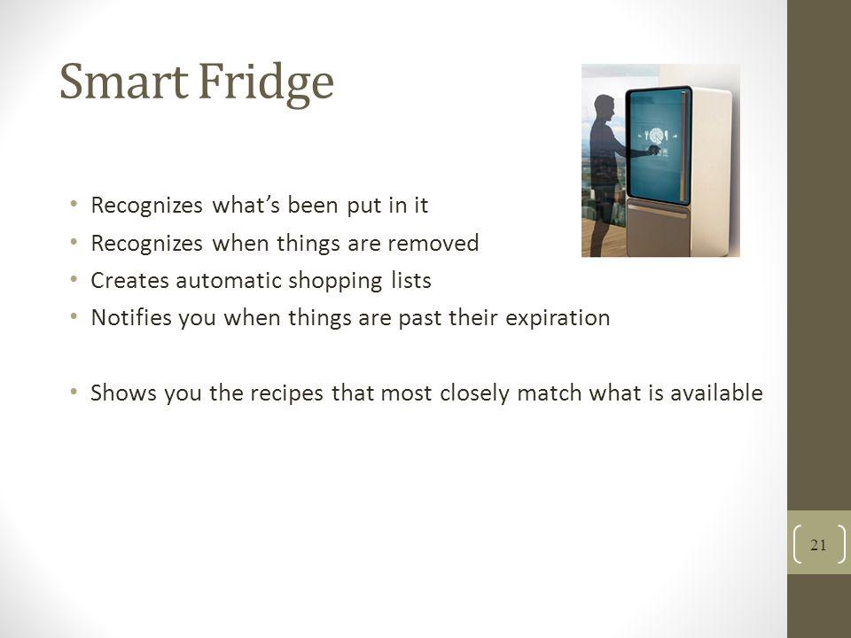 Smart Fridge Recognizes what's been put in it