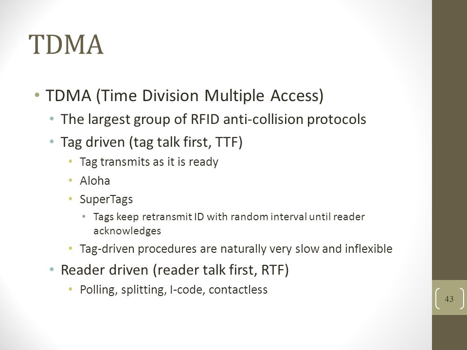TDMA TDMA (Time Division Multiple Access)