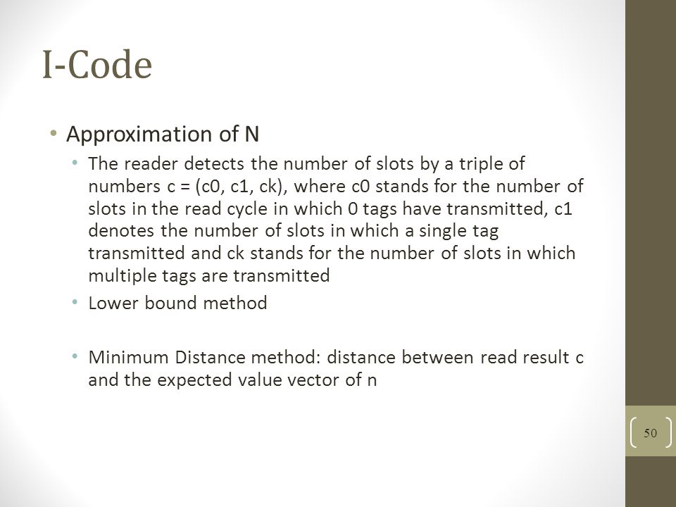 I-Code Approximation of N