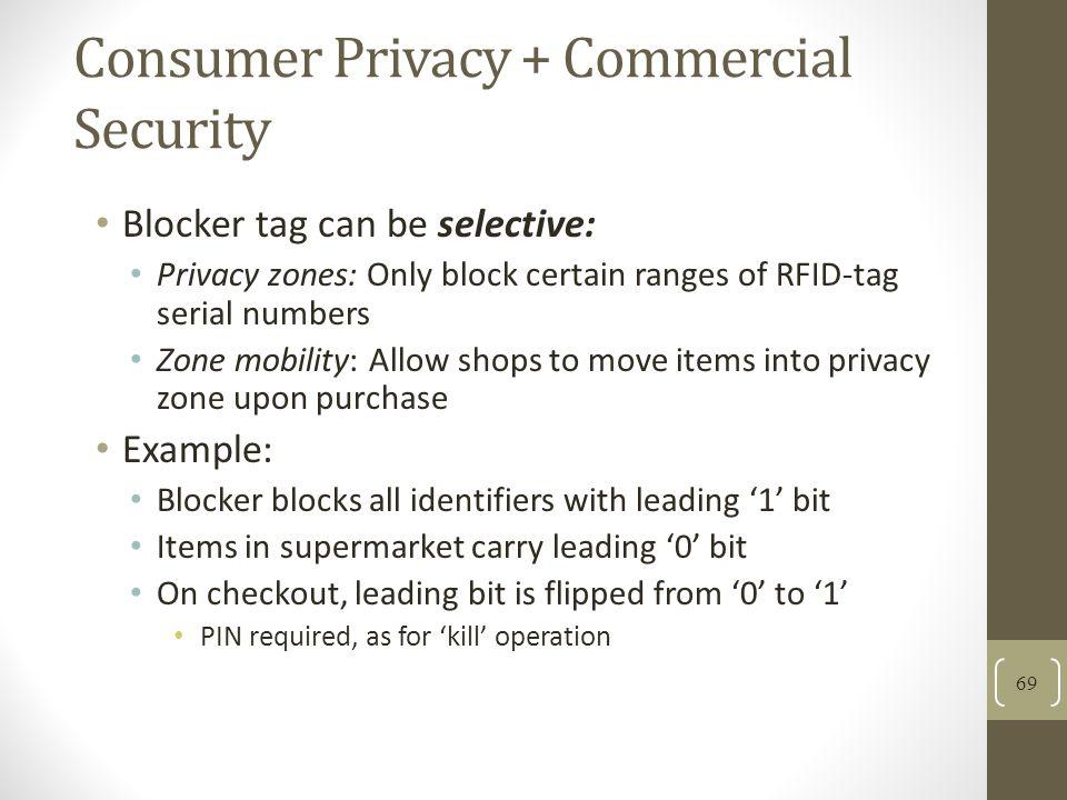 Consumer Privacy + Commercial Security