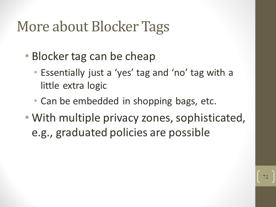 More about Blocker Tags