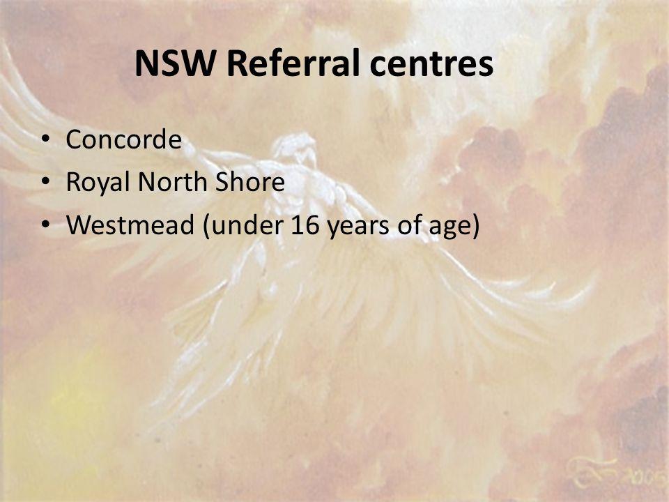 NSW Referral centres Concorde Royal North Shore