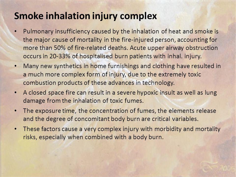 Smoke inhalation injury complex