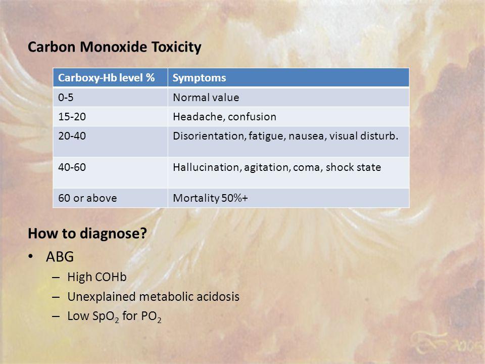 Carbon Monoxide Toxicity