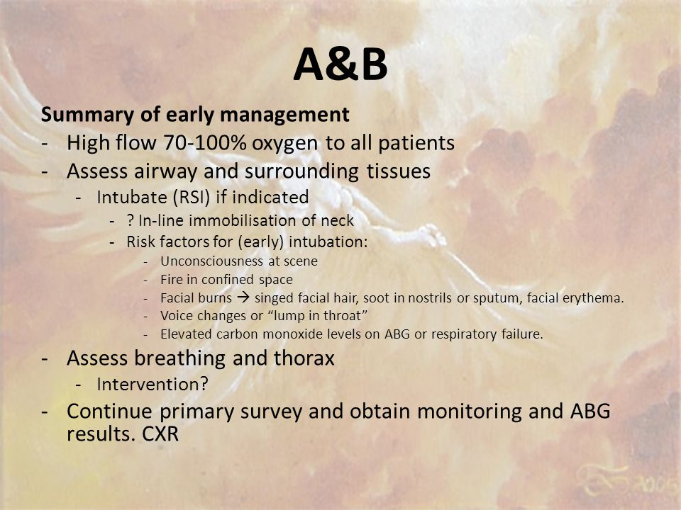 A&B Summary of early management
