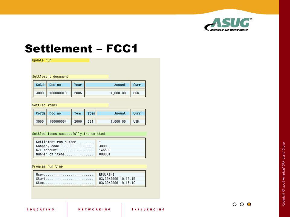Settlement – FCC1