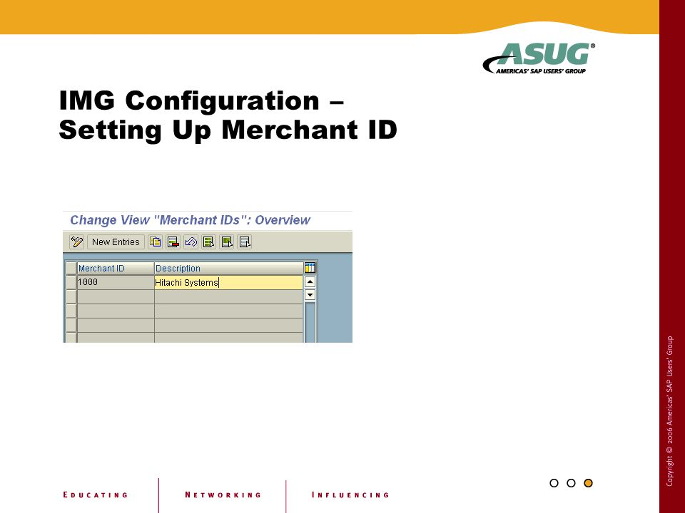 IMG Configuration – Setting Up Merchant ID