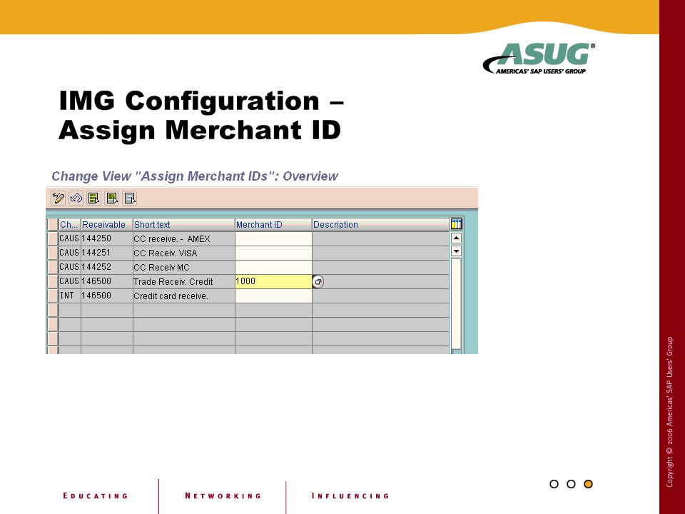 IMG Configuration – Assign Merchant ID