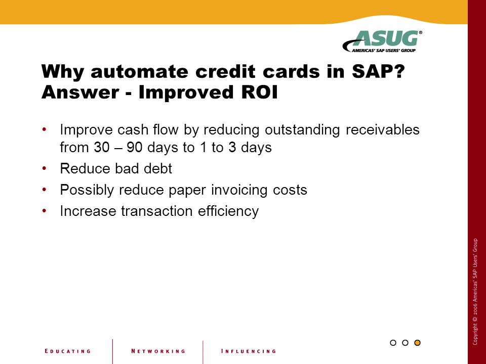 Why automate credit cards in SAP Answer - Improved ROI