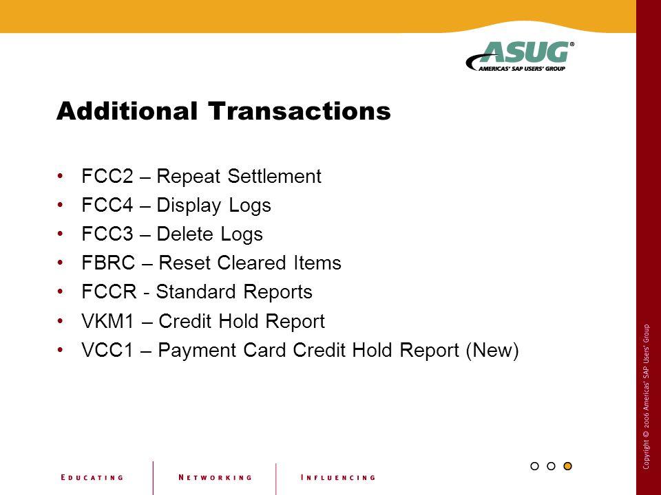 Additional Transactions