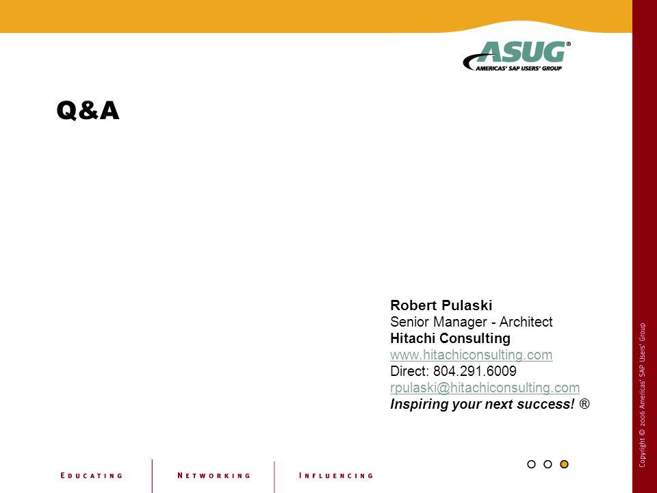 Q&A Robert Pulaski Senior Manager - Architect Hitachi Consulting