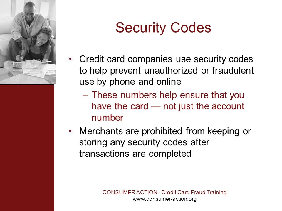 CONSUMER ACTION - Credit Card Fraud Training